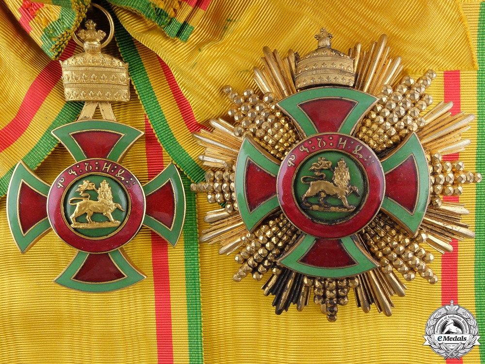 eMedals-An Ethiopian Order of Emperor Menelik II; Grand Cross