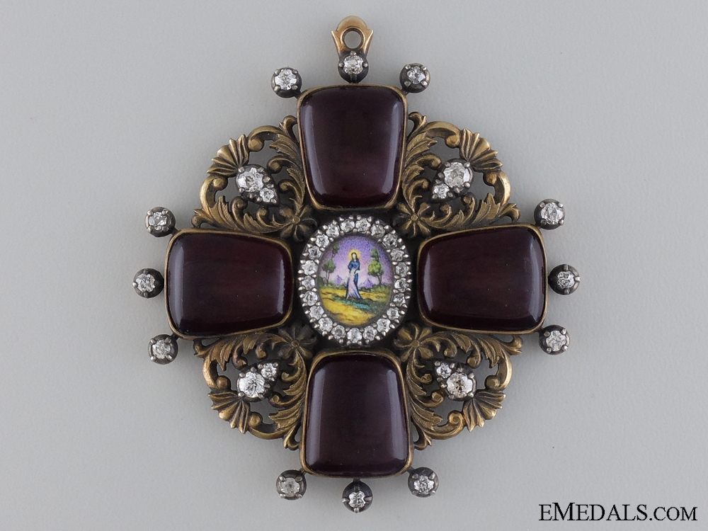 eMedals-An Exceptional Order of St.Anne with Diamonds c.1870