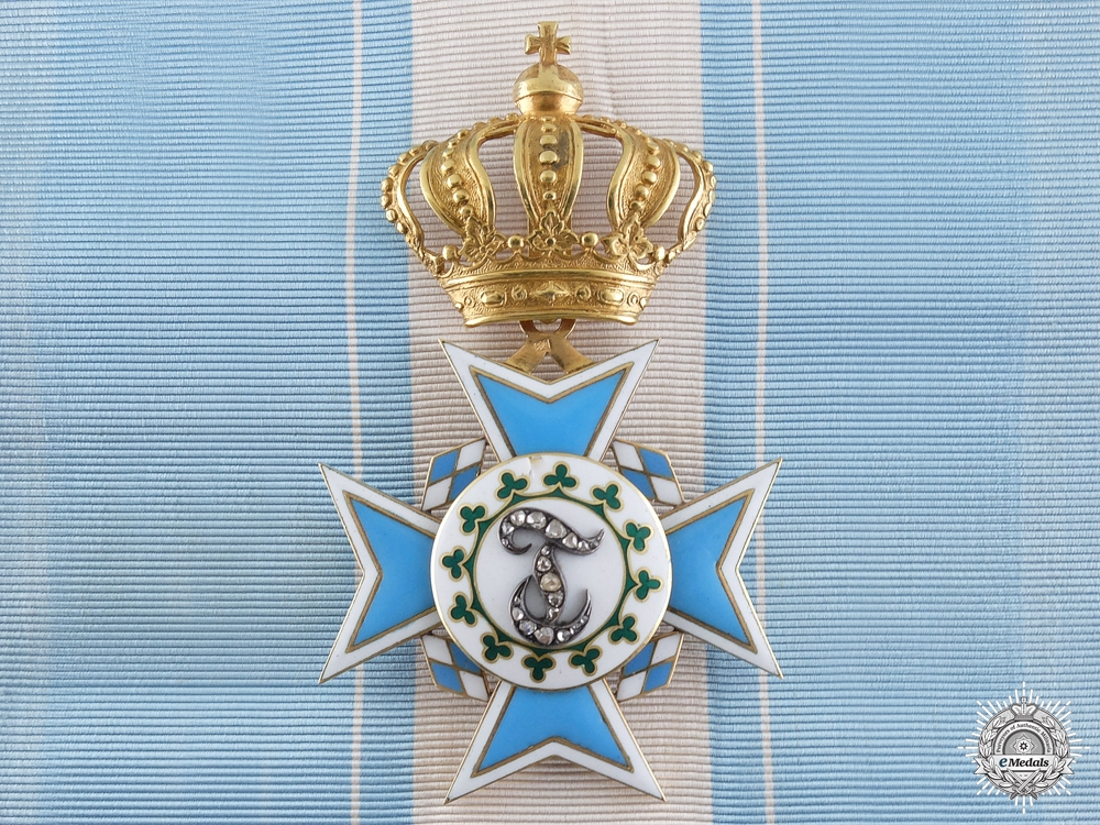 eMedals-An Exquisite Bavarian Order of Theresa with Diamonds