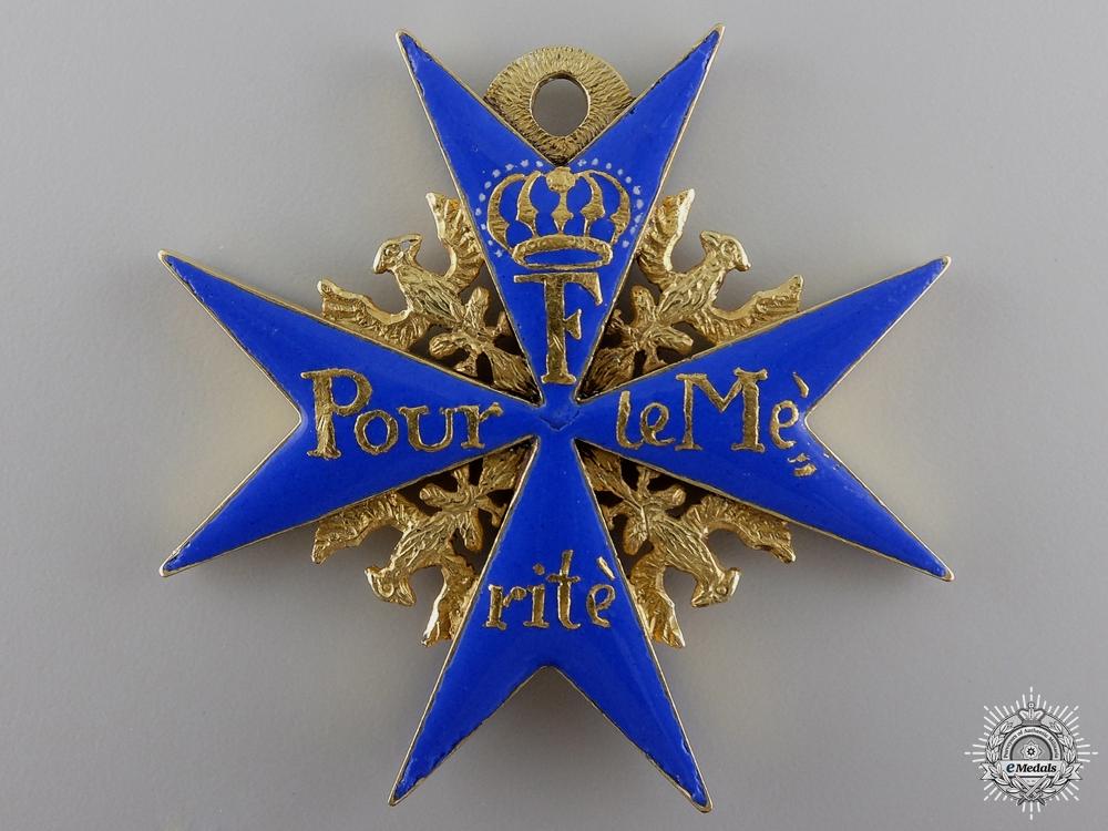 eMedals-An Exquisite Pour le Mérite c.1770-90; Official Issue Cross
