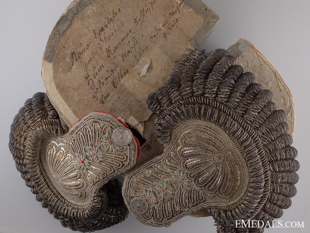 eMedals-An Exquisite Set of Bavarian Shoulder Epaulettes c.1845