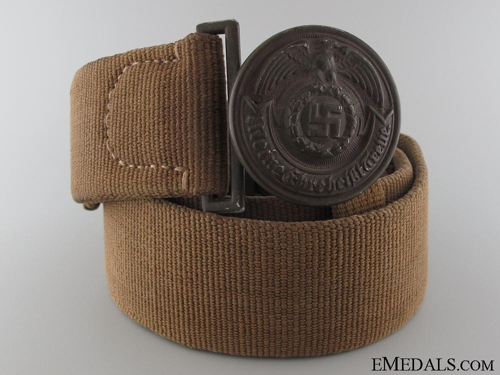 eMedals-An Extremely Rare SS Officer's Tropical Belt & Buckle