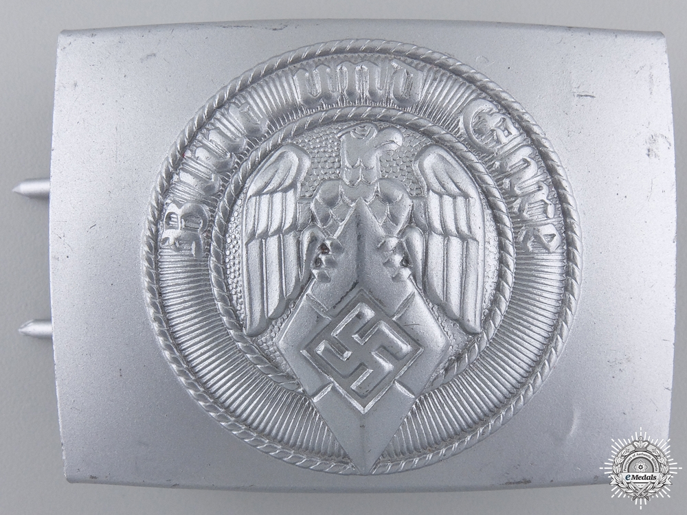 eMedals-An HJ Belt Buckle by Wilhelm Schroder & Co. with Tag