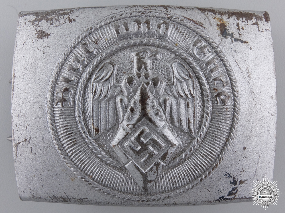 eMedals-An HJ Belt Buckle by Christian Theodor Dicke