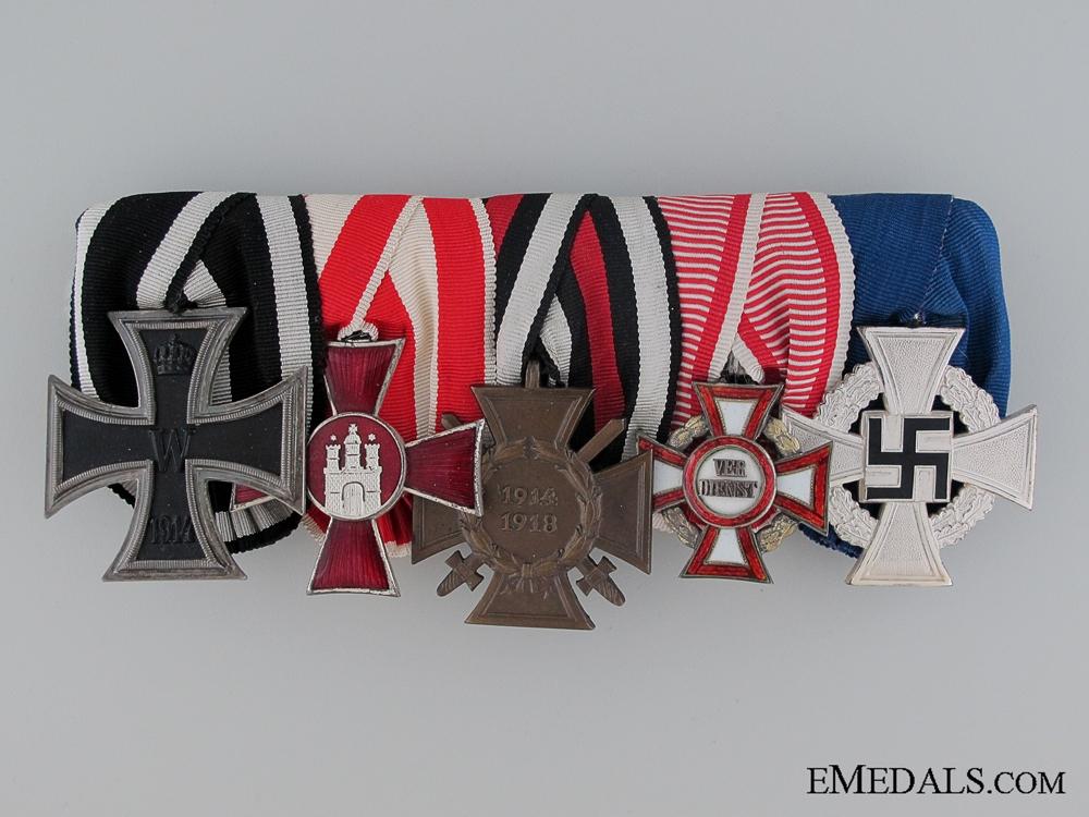 eMedals-An Imperial German Five Piece Medal Bar