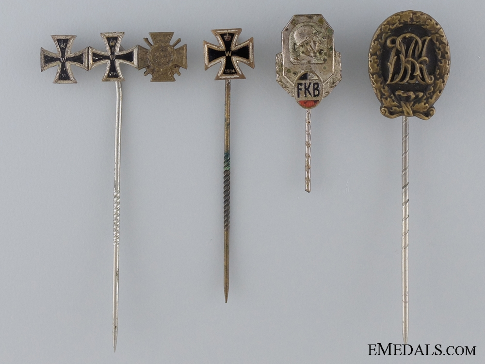 eMedals-An Imperial Group of Four Stickpins