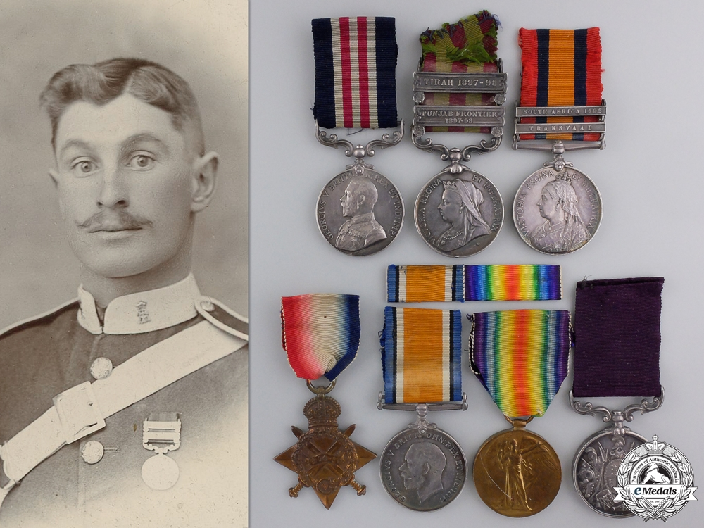 eMedals-An India, South Africa, & First War Military Medal Group