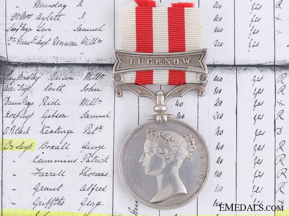 eMedals-An Indian Mutiny Medal to Colour Sergeant Johnson; 20th Regiment of Foot