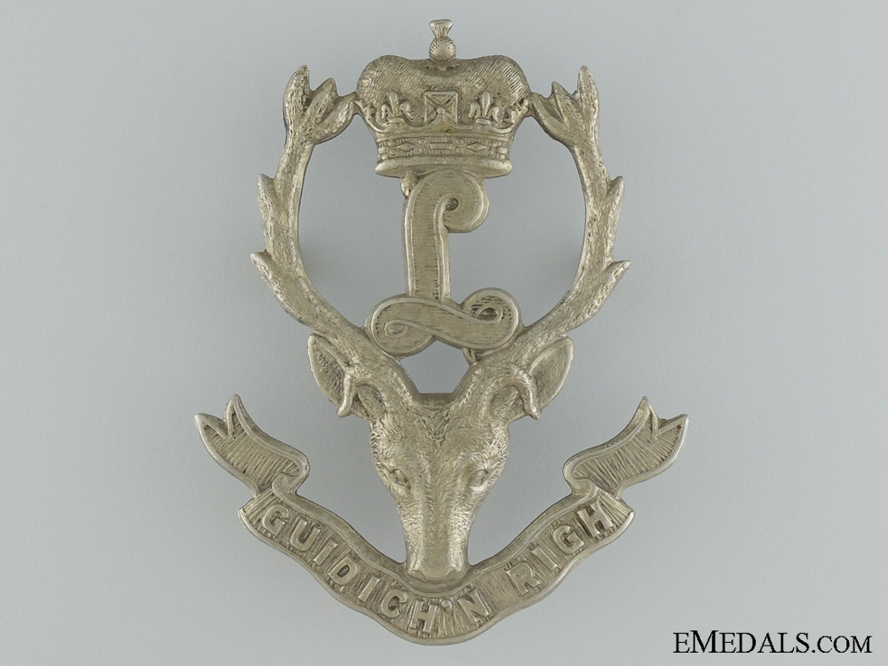 eMedals-An Interwar Seaforth Highlanders of Canada Glengarry Badge