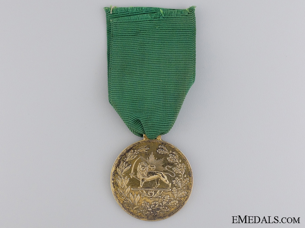 eMedals-An Iranian Medal for Bravery (Military Valour); 1st Class Gold Grade 1899