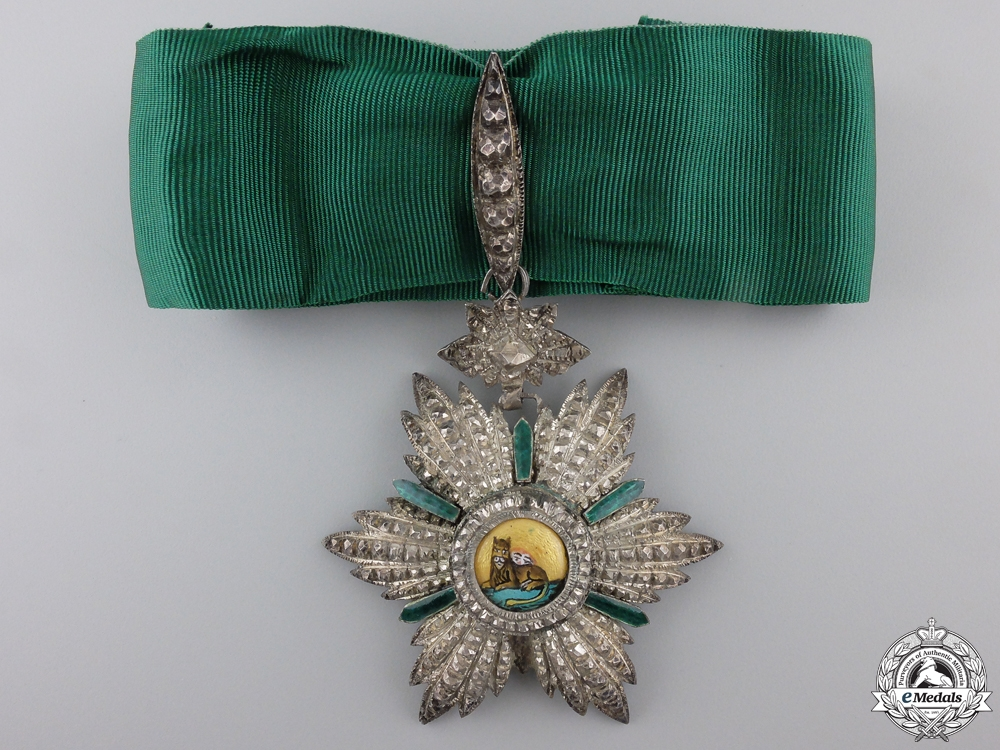 eMedals-An Iranian Order of the Lion and Sun; Commander's Neck Badge
