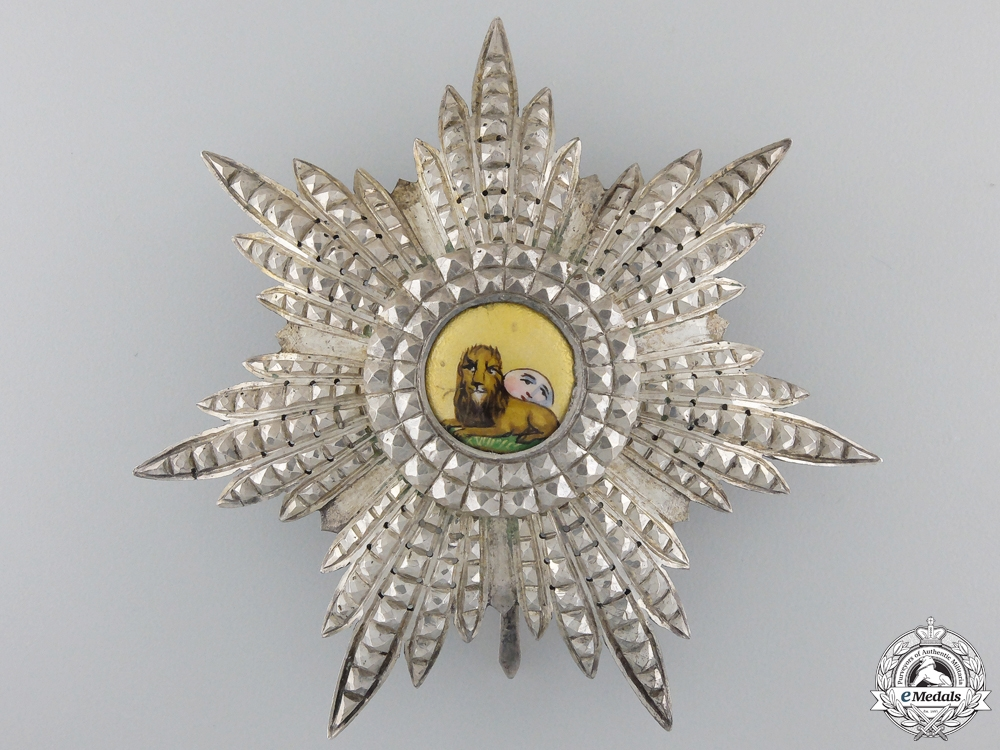 eMedals-An Iranian Order of the Lion and Sun; Breast Star