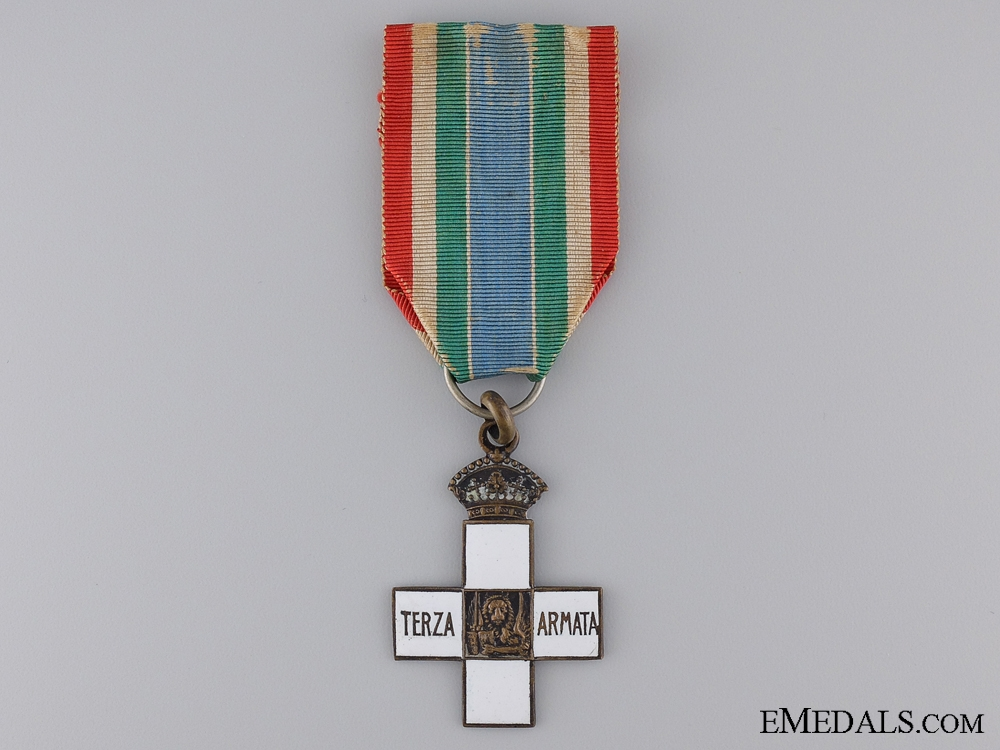 eMedals-An Italian 3rd Army Commemorative Cross; Silver Grade