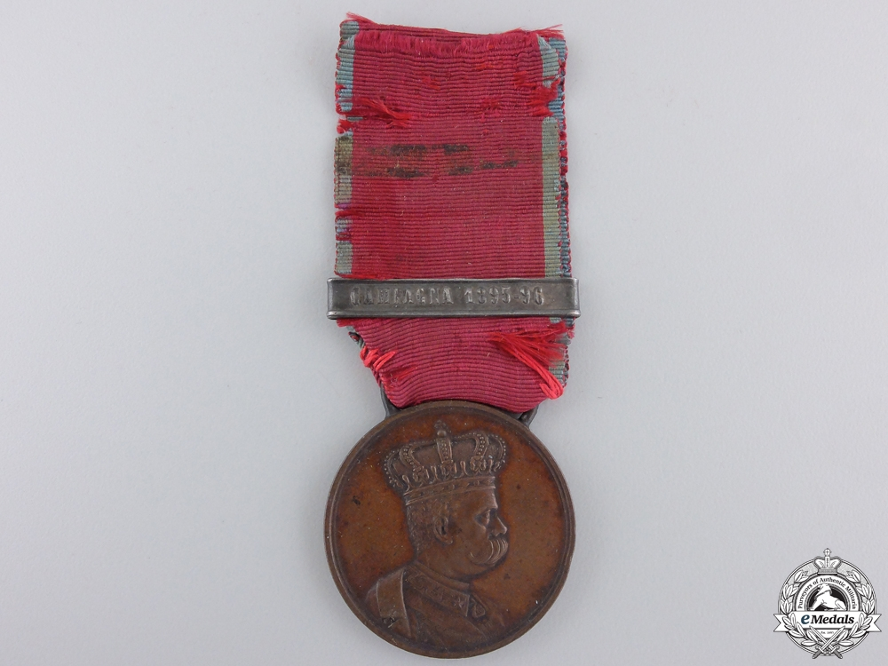 eMedals-An Italian African Campaign Medal for the 1895-96 Campaign