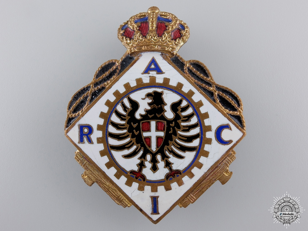 eMedals-An Italian Fascist Automobile Club Badge