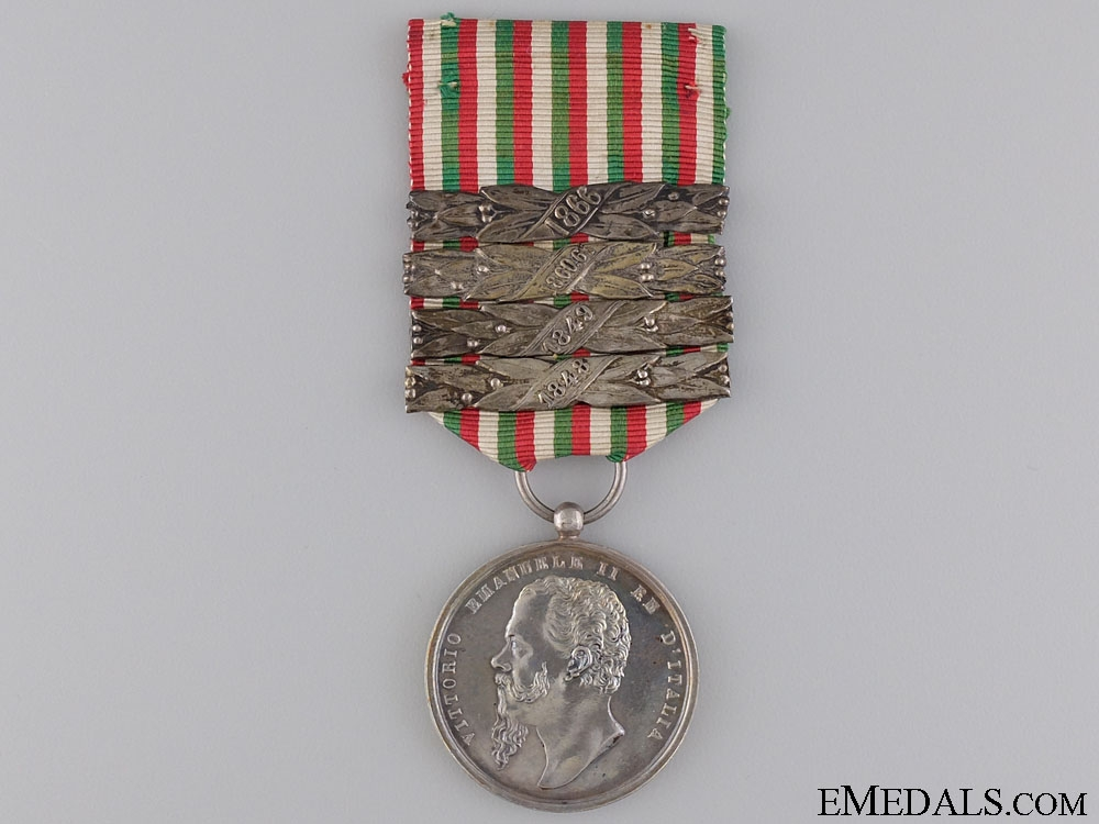 eMedals-An Italian Independence Medal with Four Clasps