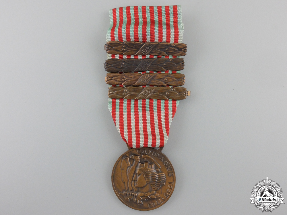 eMedals-An Italian Medal for the War of 1940-1943; Four Bars