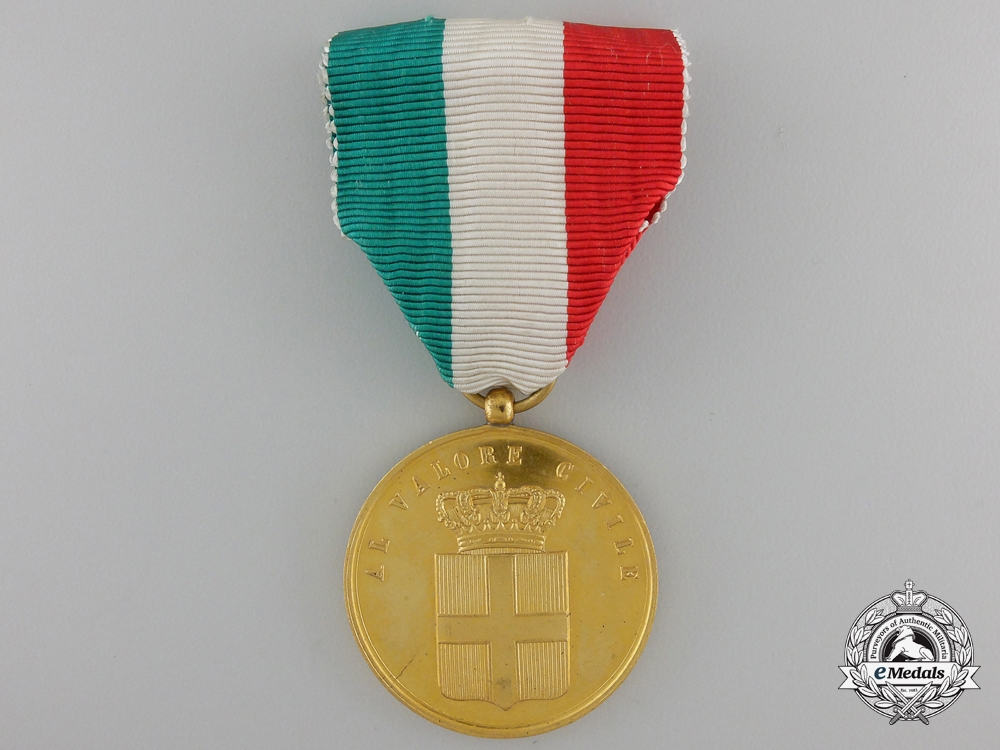 eMedals-An Italian Medal for Civil Valour; Gold Grade