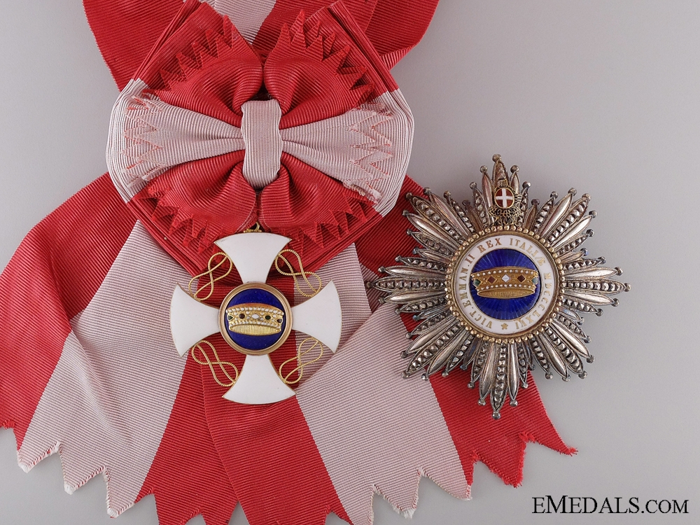eMedals-An Italian Order of the Crown; Grand Cross Set