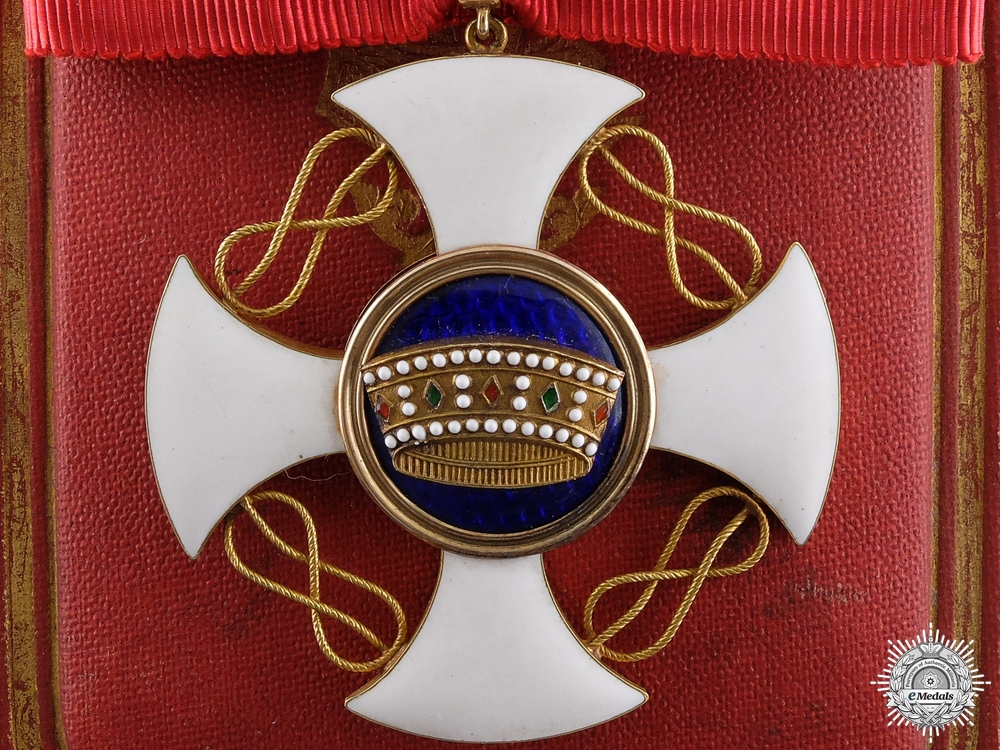 eMedals-An Italian Order of the Crown in Gold; Commander's Cross