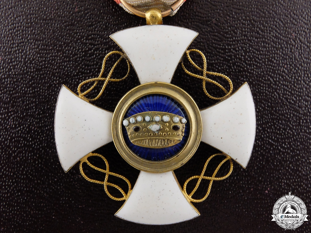 eMedals-An Italian Order of the Crown in Gold; Knight's Cross