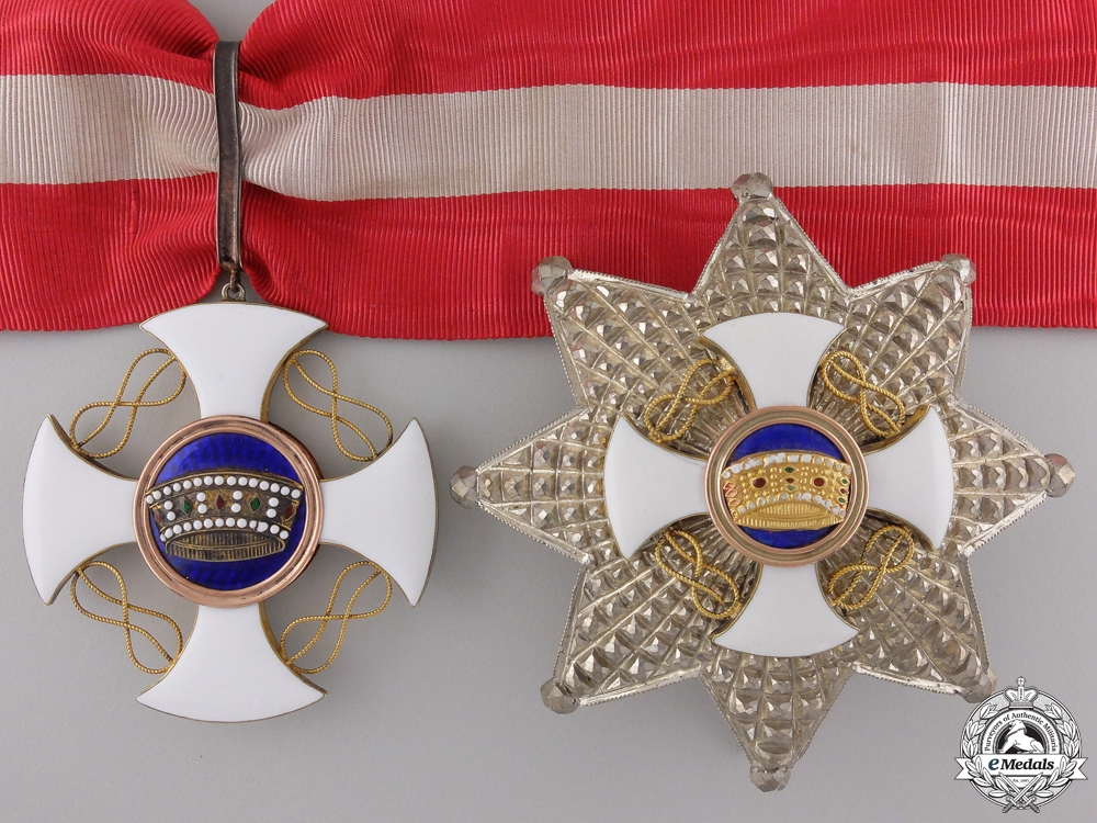eMedals-An Italian Order of the Crown; Grand Officer Set