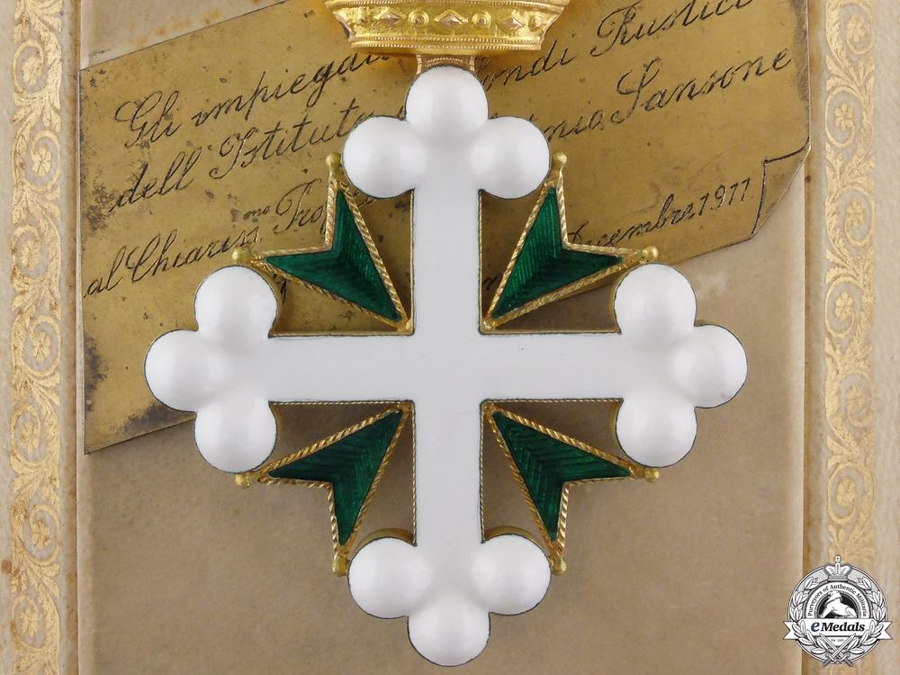 eMedals-An Italian Order of St. Maurice & Lazarus in Gold; Named