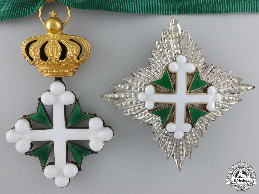 eMedals-An Italian Order of St.Maurice & St.Lazarus; Grand Officer's Set