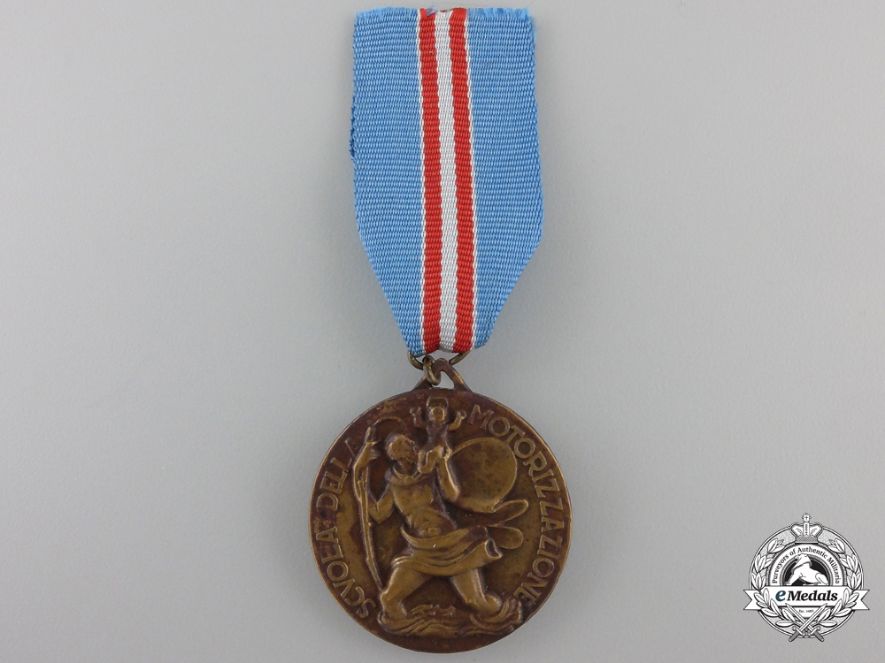 eMedals-Italy. A School of Motorization Medal, c.1938