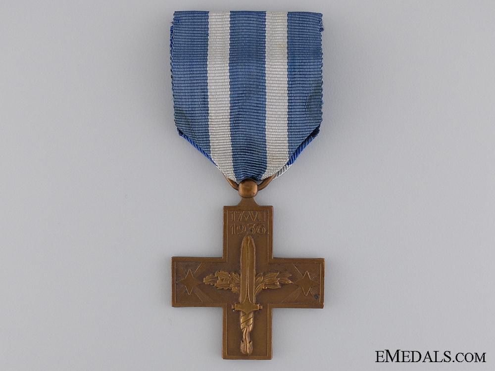 eMedals-An Italian War Cross; Spanish Civil War Type