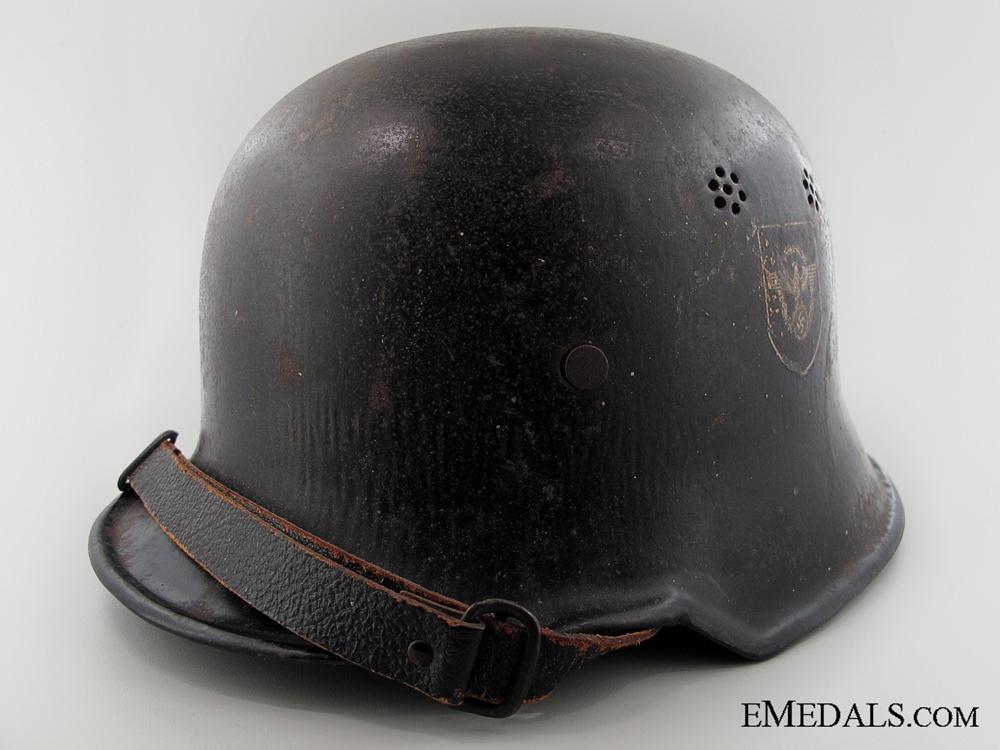 eMedals-An M34 Double Decal Feuerschutzpolizei Helmet