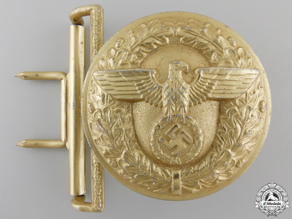 eMedals-An NSDAP Leader's Belt Buckle by Wilhelm Schroder & Cie