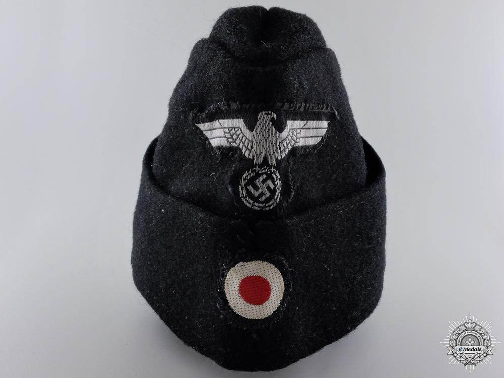 eMedals-An NSKK Overseas Cap Converted into Panzer Cap