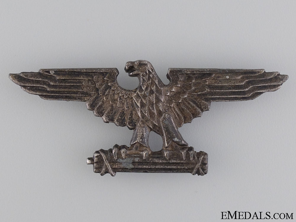 eMedals-An Officer's Peaked Cap Badge of the Italian SS