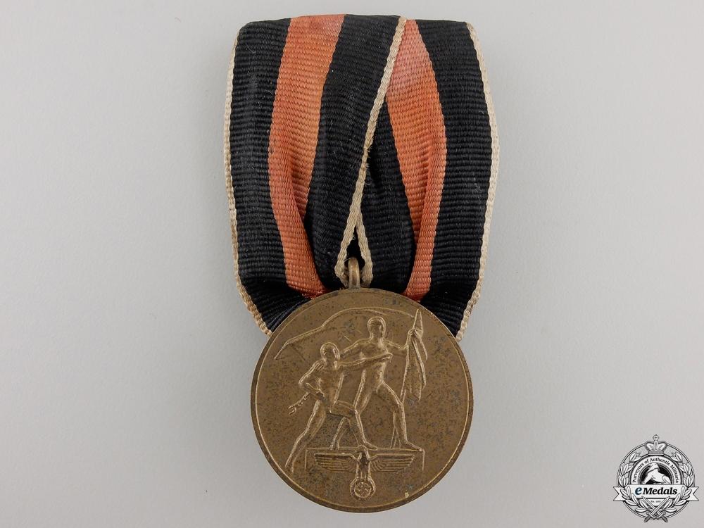 eMedals-An Oktober 1938 Commemorative Medal