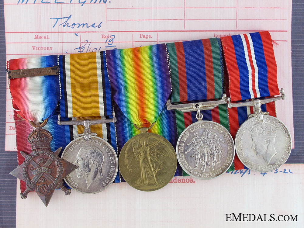 eMedals-A 1914 Mons Star Group to the Gordon Highlanders