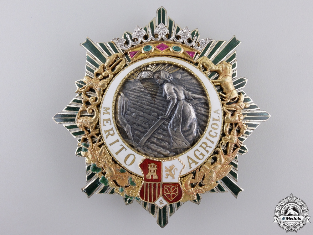 eMedals-An Order for Agricultural Merit; Grand Cross Star in Gold & Diamonds