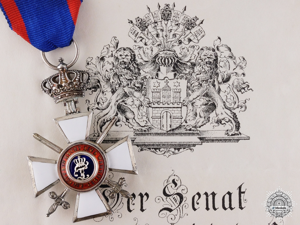 eMedals-An Order of Peter Friedrich Ludwig to the 84th Prussian Regiment