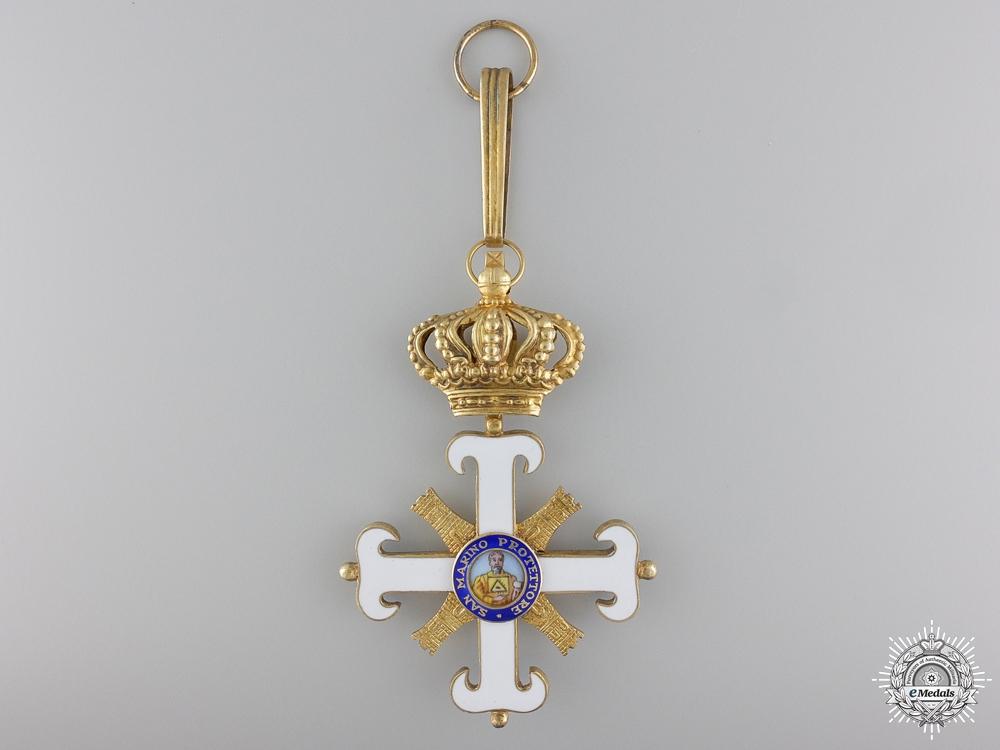 eMedals-An Order of San Marino; Commander's Cross