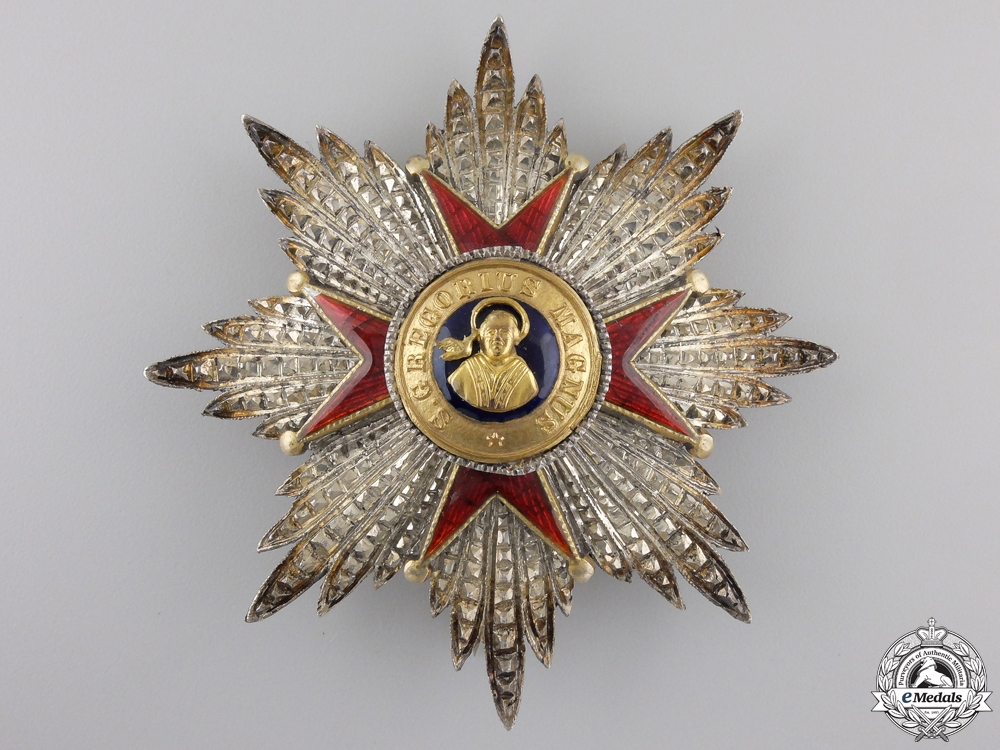 eMedals-An Order of St. Gregory the Great; First Class Breast Star