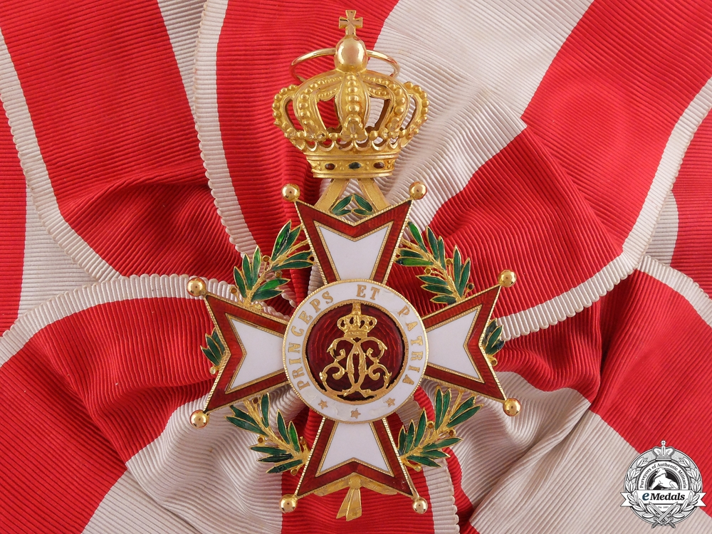 eMedals-An Order of St. Charles of Monaco in Gold; Grand Cross