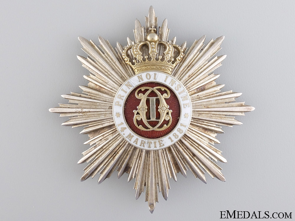 eMedals-An Order of the Romanian Crown; Grand Officer Star
