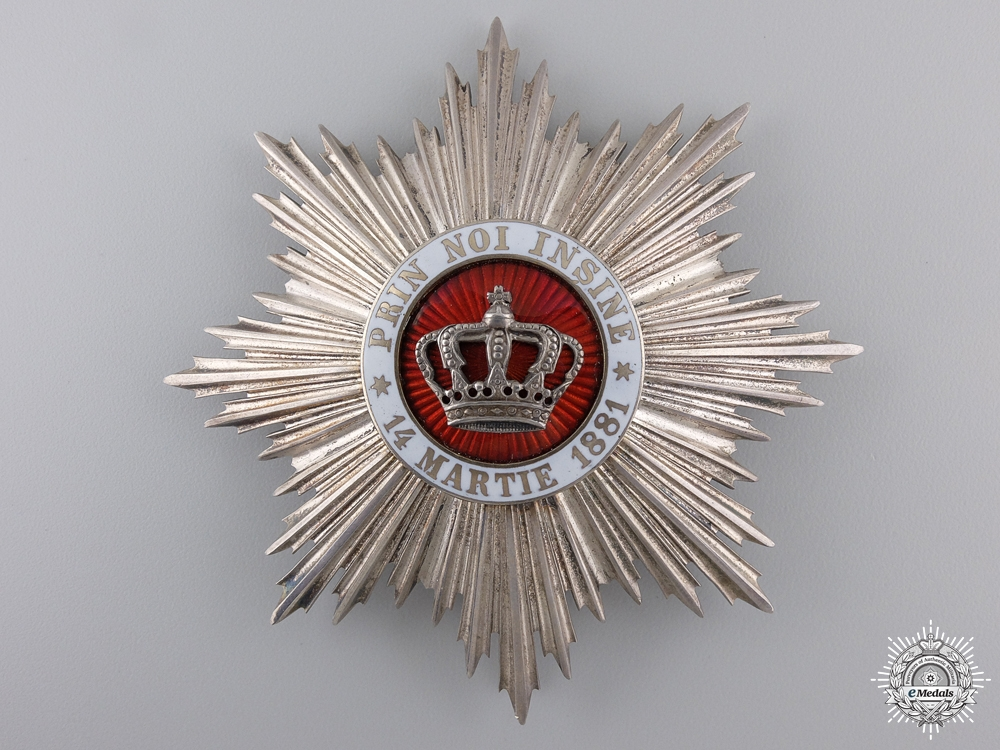 eMedals-An Order of the Romanian Crown; Grand Officers Second Class