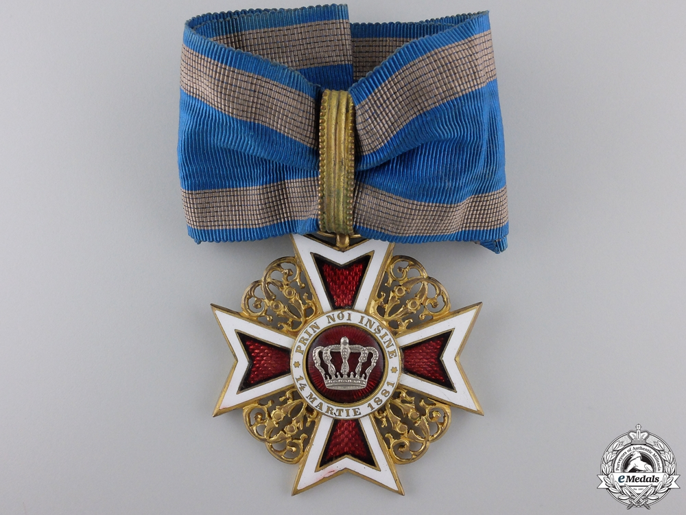 eMedals-An Order of the Romanian Crown; Commanders Cross