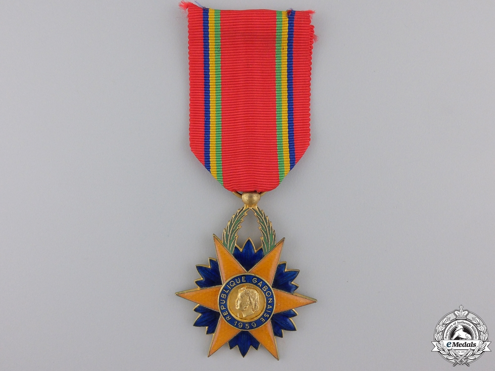 eMedals-An Order of the Equatorial Star of Gabon; Knight