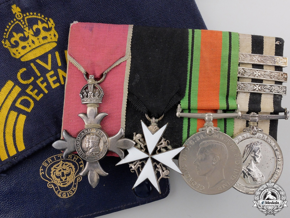 eMedals-An Order of the British Empire (MBE) & St.Johns Medal Bar