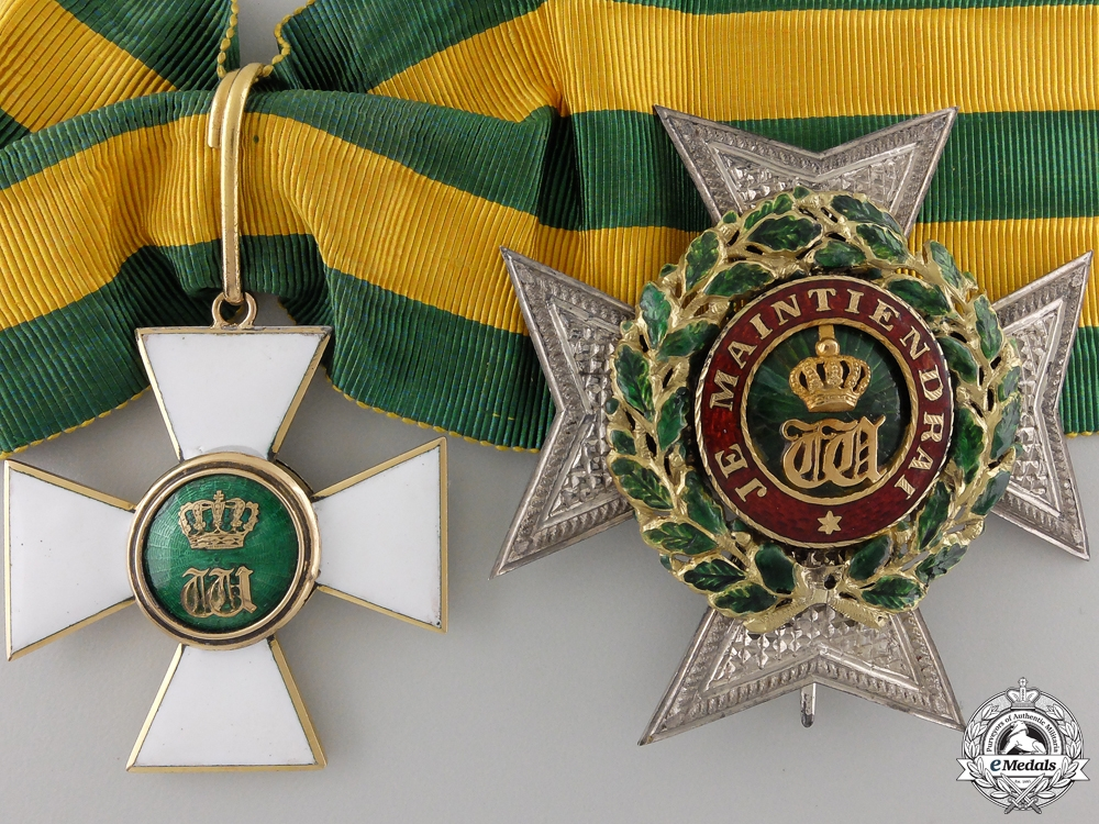 eMedals-An Order of the Oak Crown of Luxembourg; Grand Officer c.1875