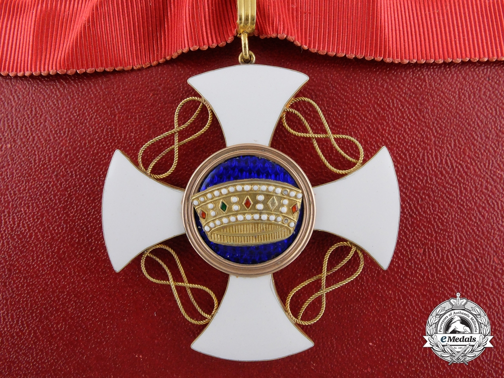 eMedals-An Order of the Crown of Italy in Gold; Commander with Case
