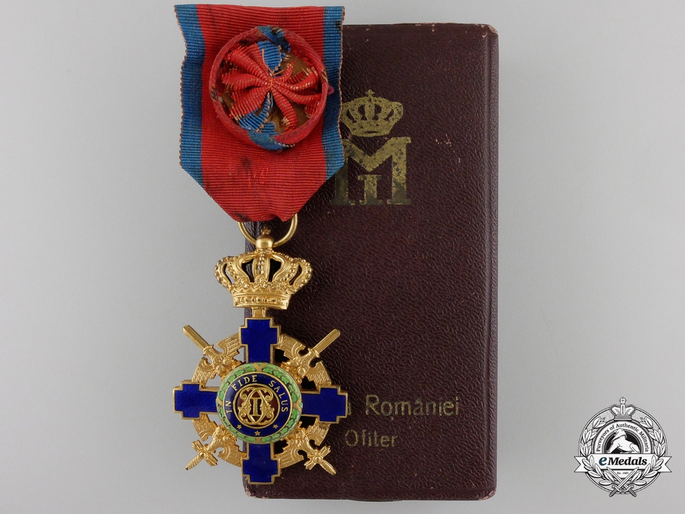 eMedals-An Order of the Romanian Star; Military Division with Case