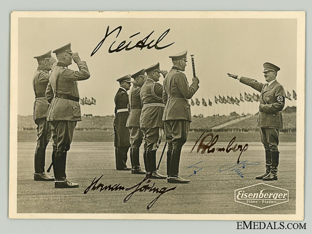 eMedals-An Outstanding AH, Göring, Blomberg & Keitel Signed Photo  Consign: 18